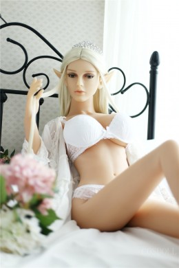 4.85ft Sexy doll Lifesize Realistic Sex Doll with White Lingerie for Male