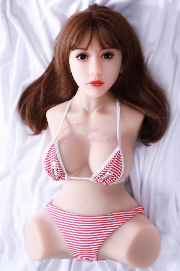 La plus récente poupée de sexe en silicone 3D complète du corps à moitié avec un beau visage