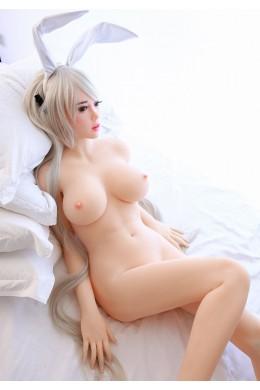 Lucy Sweet Bunny Girl con piel blanca como la nieve TPE Silicone Sex Doll