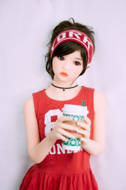 Andy Sporty Little Girls with Flat Chest TPE Silicone Sexy Doll for Men 3.28ft (100cm)