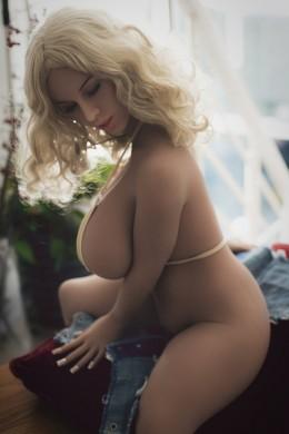 Vicky Grote borsten en grote kont Rijpe TPE-sekspop 3.54ft (108cm)