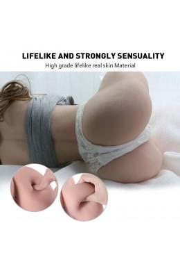 Rolan 4,3 kg Realistische 3D-mannelijke masturbator, sekspop met half lichaam met vagina en anaal