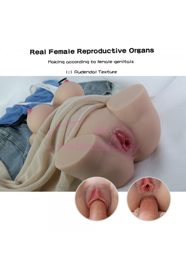 Rolan 4.3kg Realistic 3D Male Masturbator, Half Body Sex Doll with Vagina and Anal
