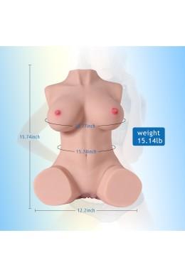 Jessie 7kg Realistische 3D-mannelijke masturbator, sekspop met half lichaam met vagina en anaal
