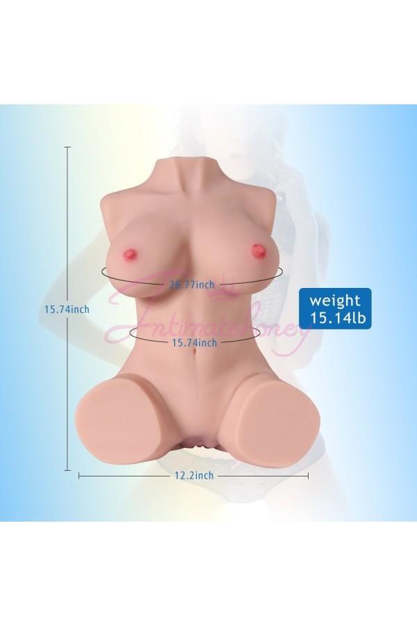 Jessie 7kg Realistic 3D Male Masturbator, Half Body Sex Doll with Vagina and Anal