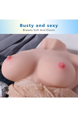 Jessie 7kg Realistic 3D Male Masturbator, Half Body Sex Doll with Vagina and Anal