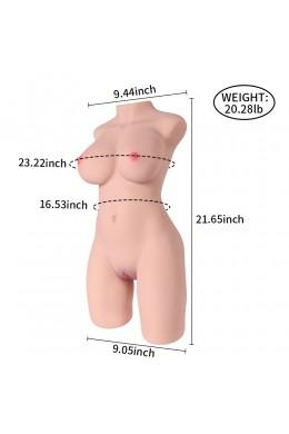 Maya 9kg Kunstkut Vrouwelijke Torso Seksspeeltjes voor Mannen Masturbatie Volwassen speelgoed met grote borstvagina en anaal