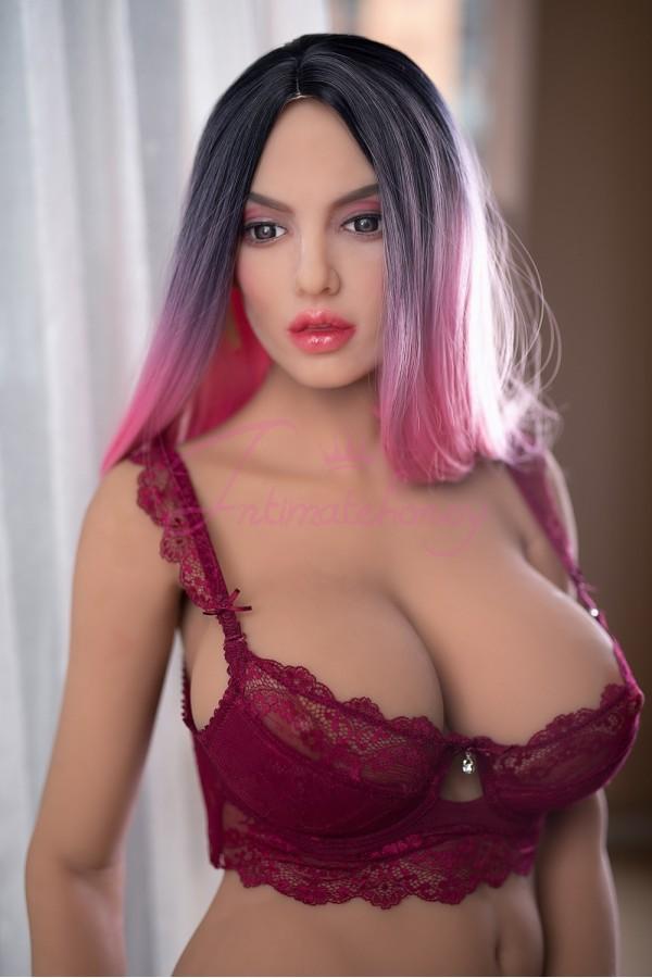 Carola Pleasure Lifelike Sex Doll Purple Hair Real Love Doll 160cm (5.24 ft)