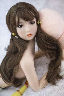 Hebe Cute e Pretty Young Little TPE Sex Doll con seno piatto 3.28 piedi (100 cm)