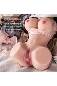 Maria 2.4kg Lifelike Mini Sex Doll for Male Masturbator, Adult Toy Women Torso Sex Toy with Skeleton Pussy Ass TPE Doll