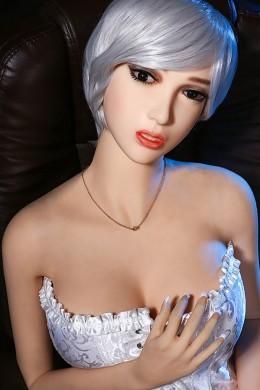 MAGGIE Las muñecas adultas del sexo del hombre hacen el amor con la muñeca verdadera - Maki