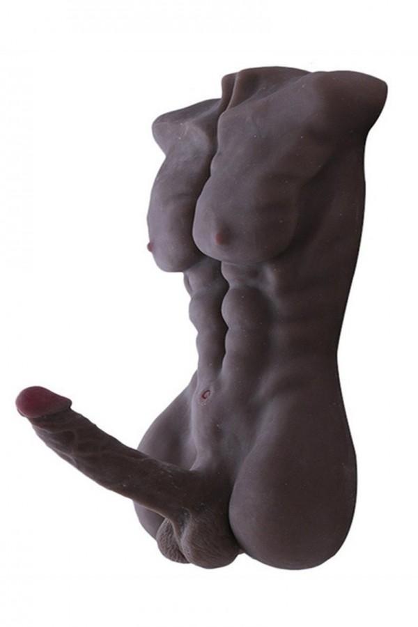 Torso bambola di sesso maschile dell'amore con il dildo del grande cazzo per uso del gay e delle donne