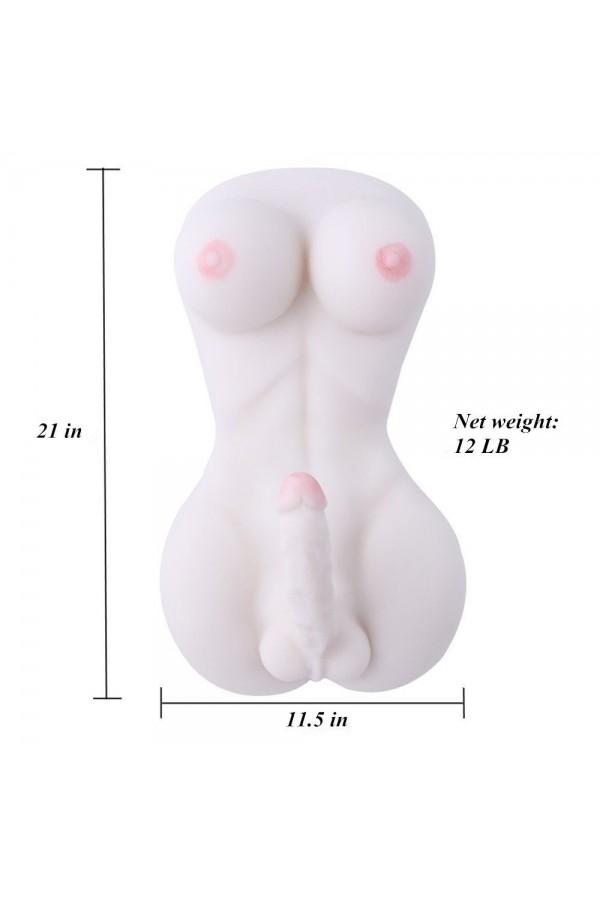 Ladyboy sexo muñeca Transexual con 18 cm de pene y pecho grande