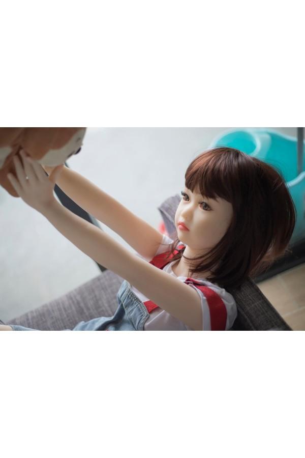 Ida Cute bambine con mini petto in silicone TPE mini bambola del sesso per uomo da 4.1ft (125cm)